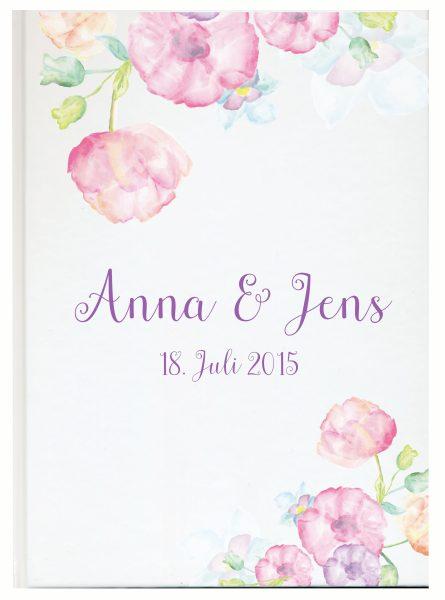Personalisiertes Gästebuch für Ihre Hochzeit (Motiv 25)