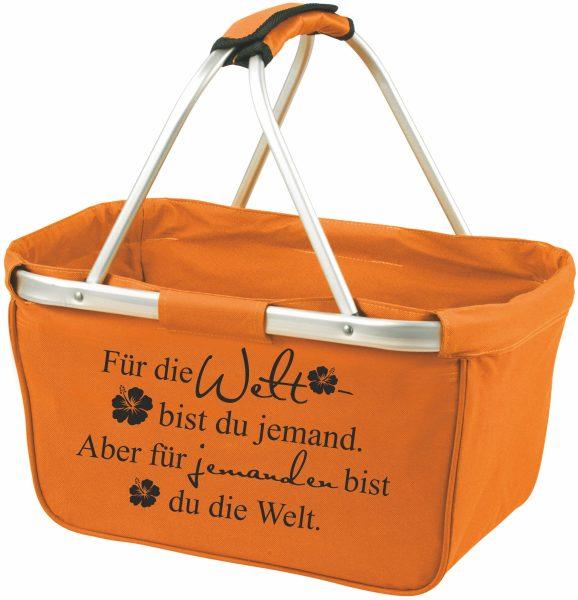 Einkaufskorb Korb orange Für die Welt