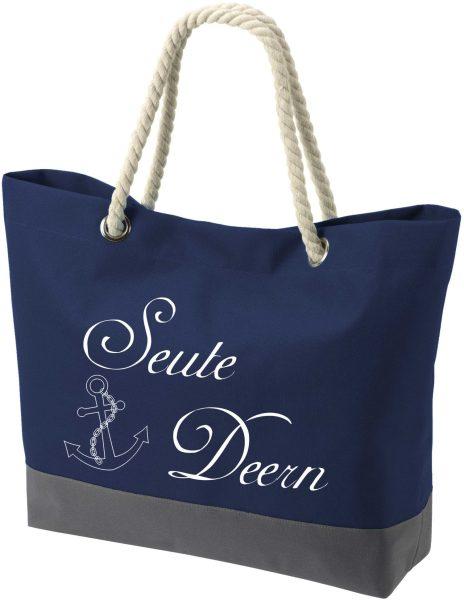 Shopper Bag Einkaufstasche Maritim Nautical Seute Deern