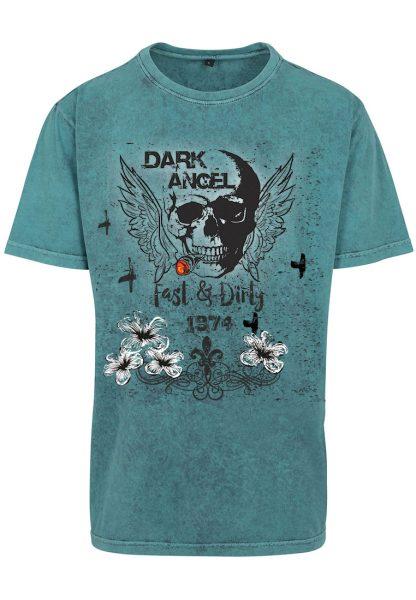 Herren Acid Washed T-Shirt Dark Angel