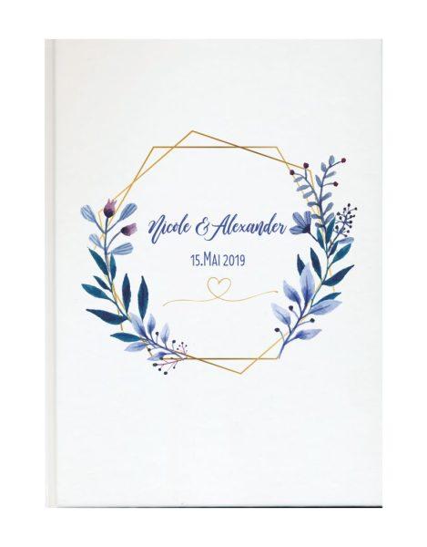 Personalisiertes Gästebuch für Ihre Hochzeit (Motiv 03)