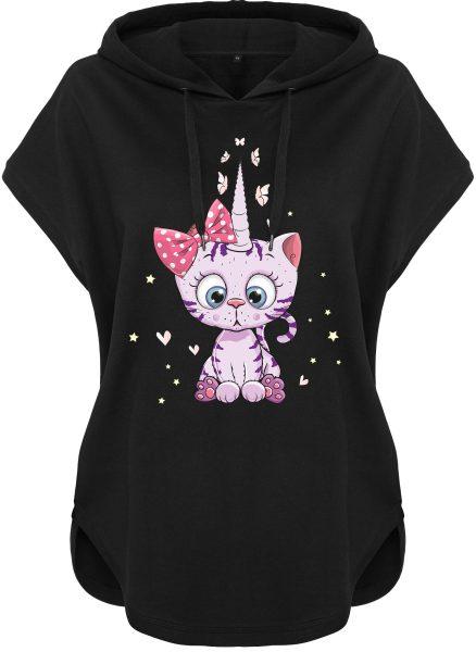 Kawaii Hoodie Kapuzenhoodie für Damen Caticorn Kittykat Katze