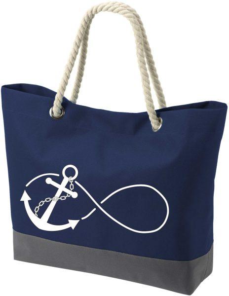 Shopper Bag Einkaufstasche Maritim Nautical Anker Anchor Infinity