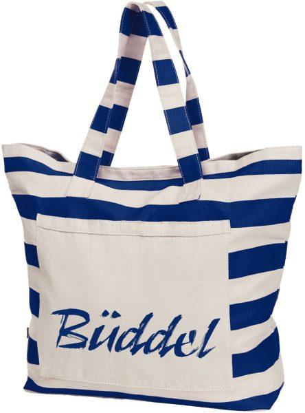 Streifen-Strandtasche Shopper maritim Büddel