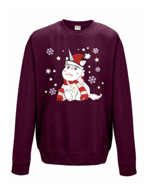 Sweatshirt Shirt Pullover Pulli Unisex Weihnachten Winter Einhorn Cutie