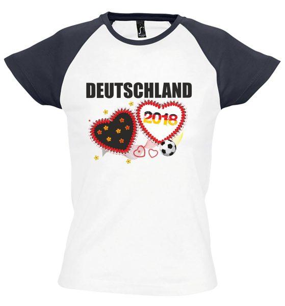 Damen T-Shirt WM 2018 Motiv 12 Herzen
