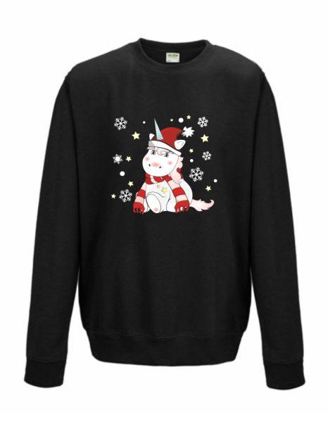 Sweatshirt Shirt Pullover Pulli Unisex Weihnachten Winter Einhorn Cutie xmas