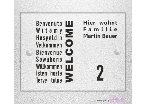Personalisiertes Schild Hausschild Wohnung Hausnummer Motiv 05