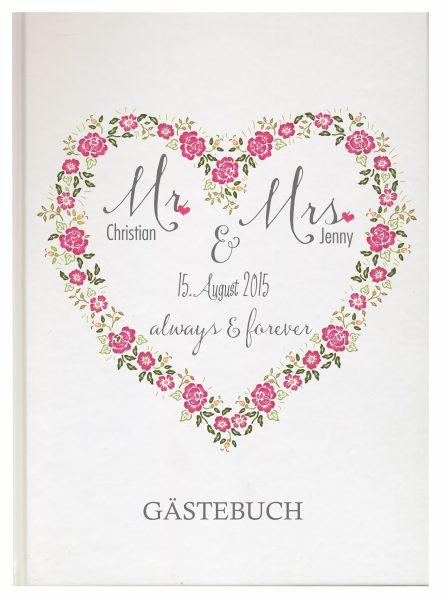 Personalisiertes Gästebuch für Ihre Hochzeit (Motiv 07)