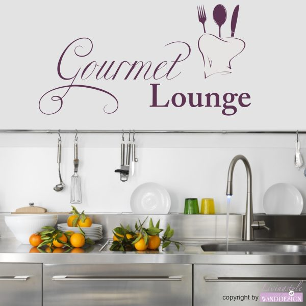 Wandtattoo Gourmet Lounge