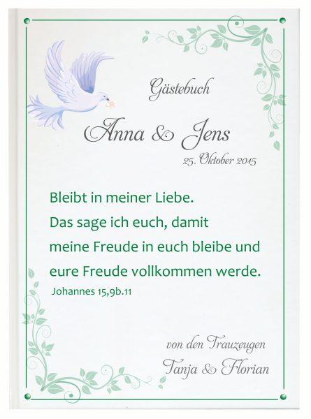 Personalisiertes Gästebuch für Ihre Hochzeit (Motiv 16)