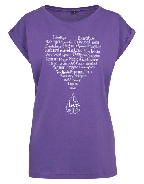 Damen T-Shirt Extended Shoulder Tee Ätherische Öle