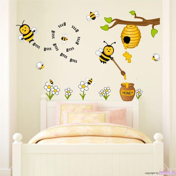 Wandtattoo Honigbienen