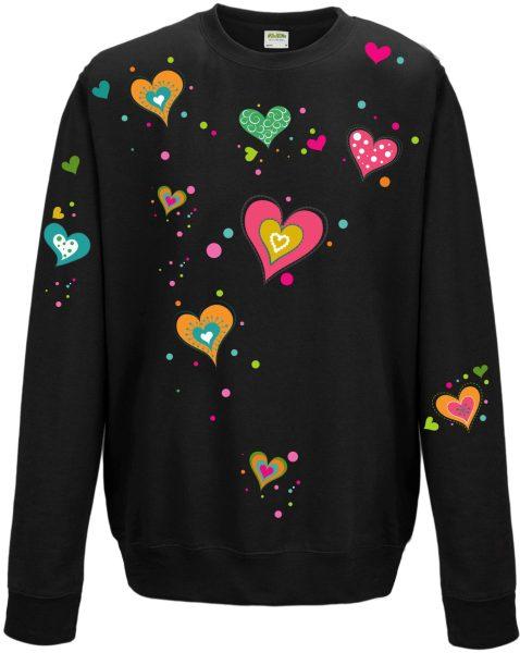 Sweatshirt Shirt Pullover Pulli Unisex Herzen
