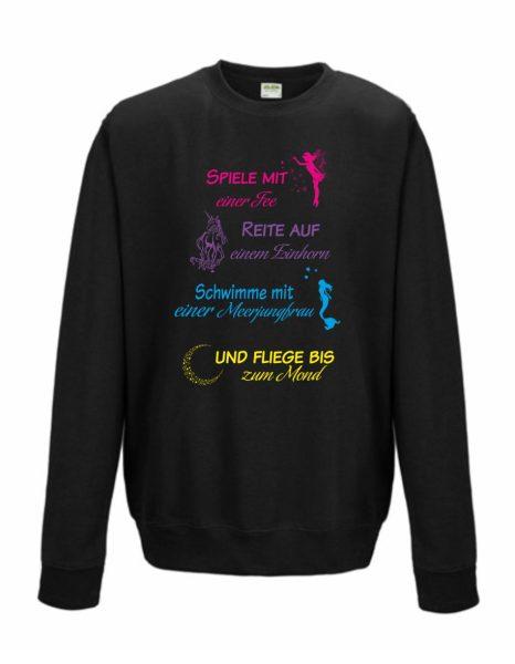 Sweatshirt Shirt Pullover Pulli Unisex spiele reite schwimme fliege