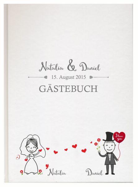 Personalisiertes Gästebuch für Ihre Hochzeit (Motiv 09)