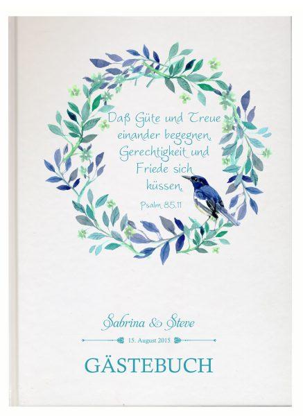 Personalisiertes Gästebuch für Ihre Hochzeit (Motiv 08)