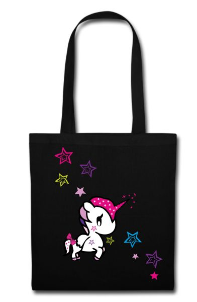 Stofftasche schwarz Unicorn Funny