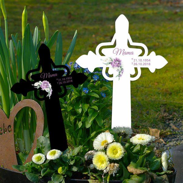 Grabkreuz mit Stern Orchidee