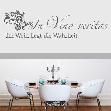 """Wandtattoo Spruch """"In Vino"""""""