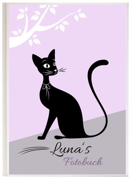 Fotoalbum für Tiere Katze schwarz