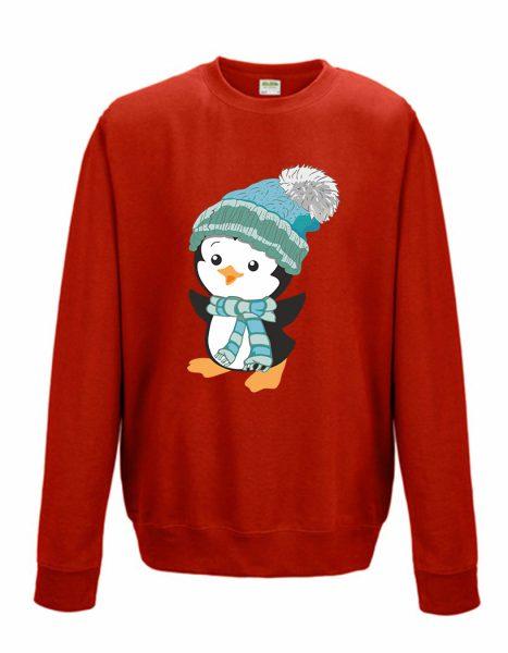 Sweatshirt Shirt Pullover Pulli Unisex Weihnachten Winter Pinguin