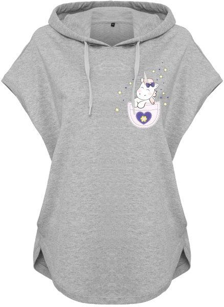 Kawaii Hoodie Kapuzenhoodie für Damen Einhorn Unicorn Pocket