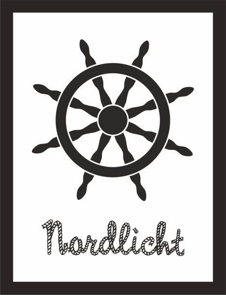 Kunstdruck Nordlicht Steuerrad