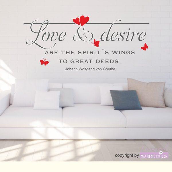 Wandtattoo Love & desire