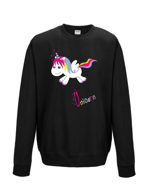 Sweatshirt Shirt Pullover Pulli Unisex Unicorn Einhorn happy
