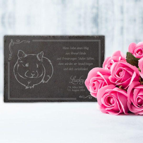 Gedenktafel fürs Tier Meerschwein
