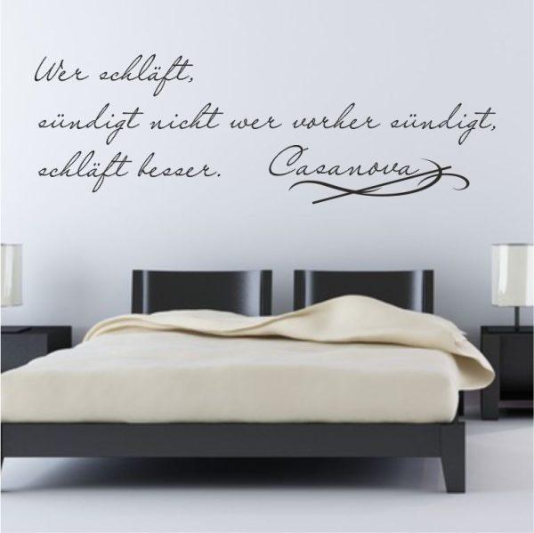 """Wandtattoo Spruch """"Casanova"""""""