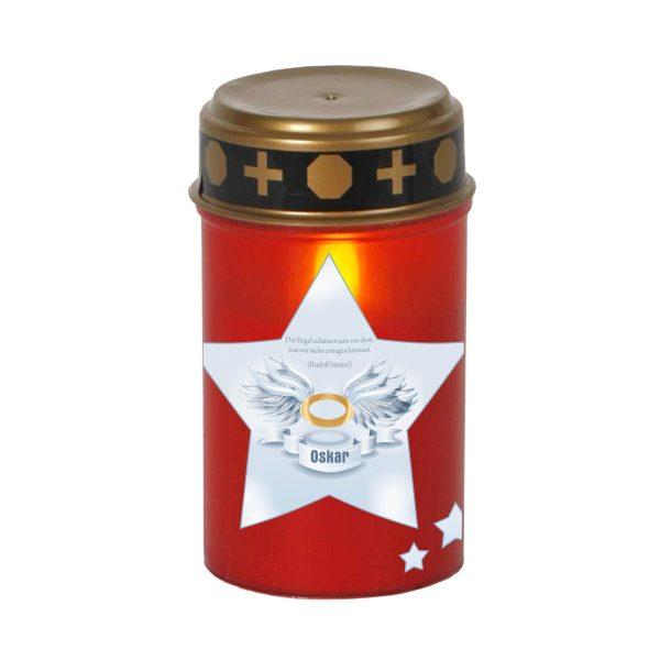 LED Grablicht Kerze Klein Stern