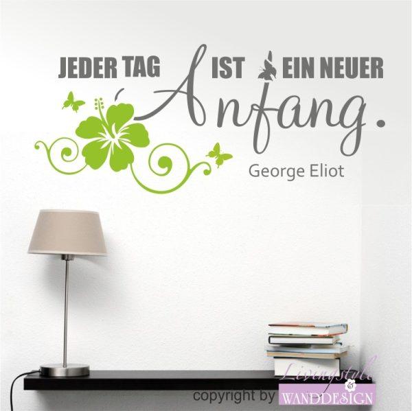 """Wandtattoo """"Jeder Tag ist ein neuer Anfang"""""""