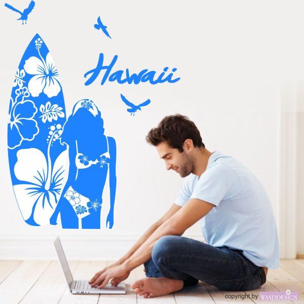 Wandtattoo Hawaii Surfer