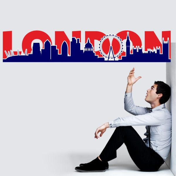 Wandtattoo London Silhouette