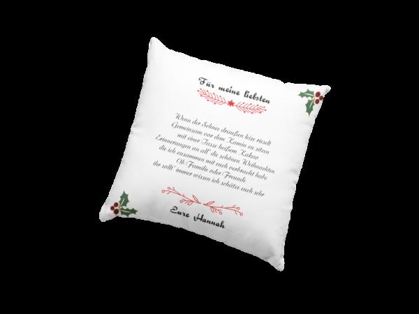 Weihnachtskissen Kissen inkl. Füllung Für meine liebsten