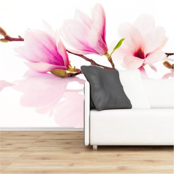 Fototapete Magnolie selbsklebend - bestehend aus 3 Bahnen