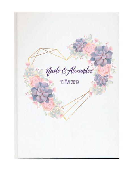 Personalisiertes Gästebuch für Ihre Hochzeit (Motiv 04)
