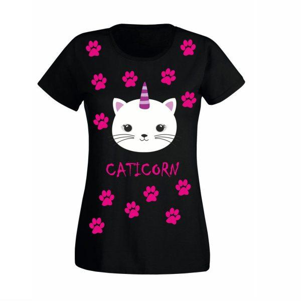 Damen T-Shirt Caticorn
