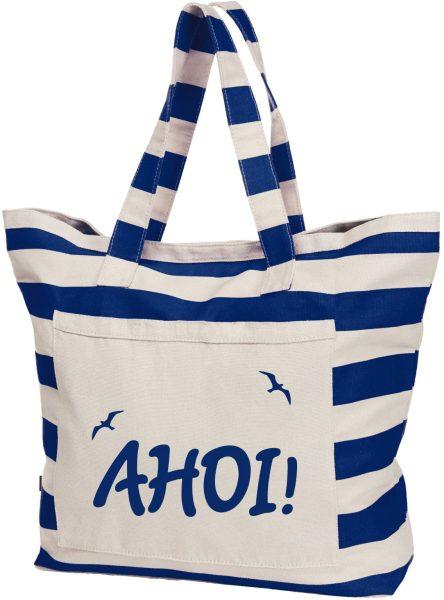Streifen-Strandtasche Shopper maritim Maritim Ahoi