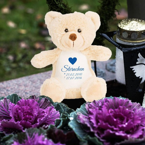 Plüschtier Kuscheltier Teddy Bär braun für Sternenkind mit Herz