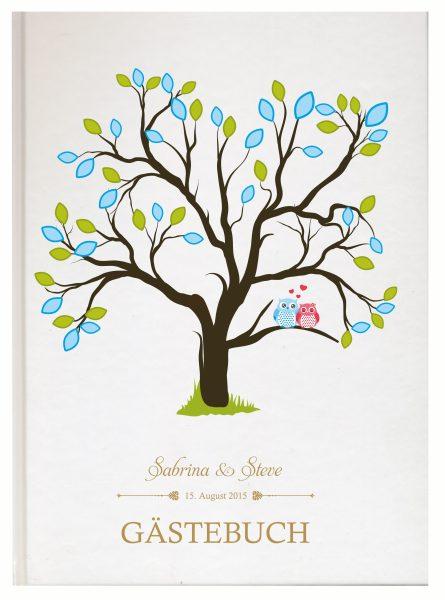 Personalisiertes Gästebuch für Ihre Hochzeit (Motiv 02)