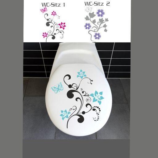 Wandtattoo WC Sitz