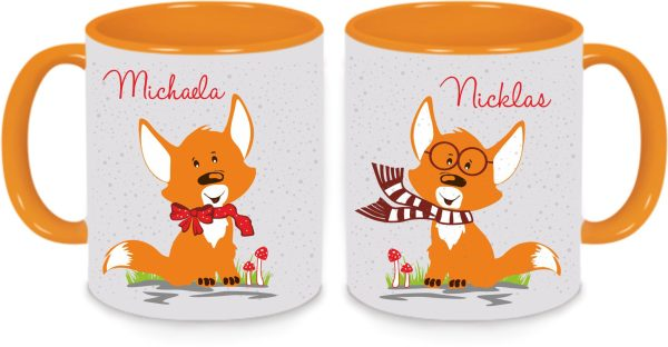 Tassen Twinset orange - Fuchspärchen