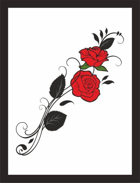 Kunstdruck Rosen bunt