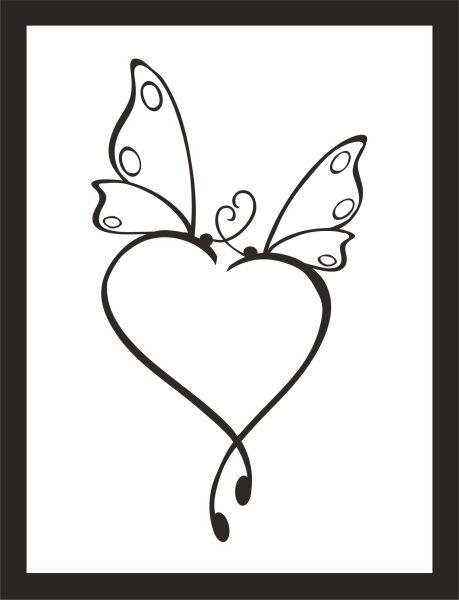 Kunstdruck Schmetterling Herz