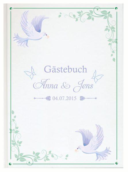 Personalisiertes Gästebuch für Ihre Hochzeit (Motiv 17)