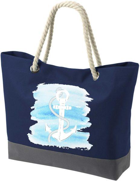 Shopper Bag Einkaufstasche Maritim Nautical Watercolor Anker
