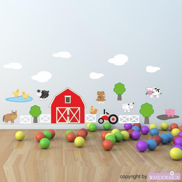 Wandtattoo Bauernhof